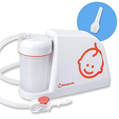 電動鼻水吸引器 メルシーポットS-503 & ロングシリコンノズル ボンジュールセット