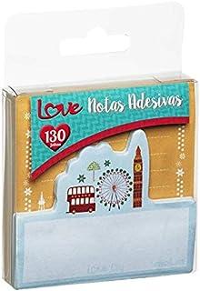 Bloco de Notas Adesivas Love City 130 Folhas