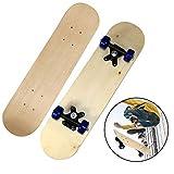 Haihuic Komplette Rohling-Skateboards, 43 cm DIY-Skateboards aus...