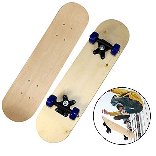 Skateboard,Monopatines de Cuatro Ruedas,MonopatíN de Arce MonopatíN,Tablero en Blanco de Doble Cara,Diy Pintado a Mano de NiñOs,EcolóGico y FáCil de Transportar,Dale a Los NiñOs un Regalo Favorito