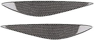 Semoic Car Real Carbon Fiber Headlight Eyebrow Eyelid Trim for Mercedes W204 Pre-Facelift 2008-2011