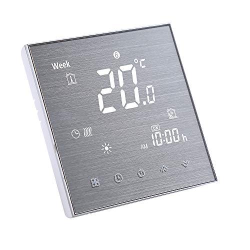 Decdeal Termostato per Caldaia a Gas - Cronotermostato da Parete,5A AC 95-240V (No WiFi - GC, Bianco)