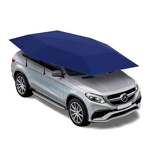 LLC - Carports Car Rooftop Tent, Automatic Folding Remote Control Car Umbrella with Removable Charger, Multifunction Auto Sunshade, Outdoor Camping Tent 165X90.5 inch / 4.2X2.3m,Blue