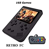 Retro Mini Handheld Game Console Built-in 168 Games 3 Inch Screen Video Game & Extra Controller Support TV Plug & Play Video Games