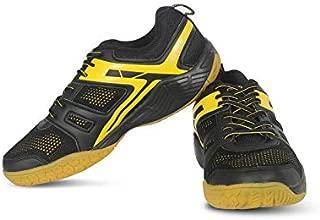 Vector X CS-2060 Court Shoes for Men's (Black-Yellow)