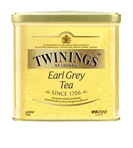 Twinings Earl Grey Tee lose in der Tee-Dose - Schwarzer Tee mit feinstem Bergamotte Aroma - erfrischender Schwarztee aus China, 1 x 500 g