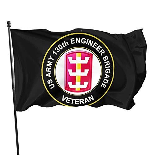not applicable Sun Zia Pueblo New Mexiko Sun US Army 130. Ingenieur Brigade Veteran 3 'X 5' Flags - Geeignet für Indoor oder Outdoor Hausgarten Flagge Poly Flagge