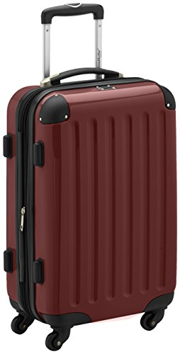 HAUPTSTADTKOFFER - Bagaglio a mano Rigida Alex, TSA, Taglia 55 cm, 42 Litri, Colore Bordeaux