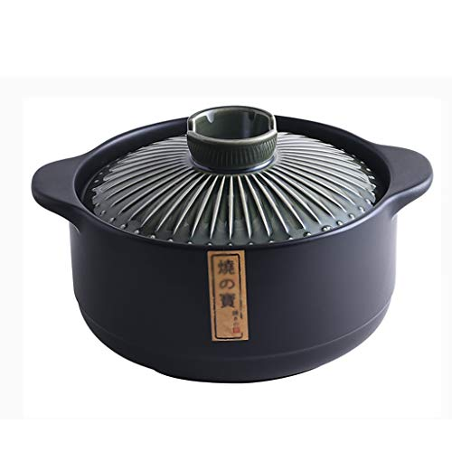Faitout Casserole en céramique Cocotte feu ouvert Pot à haute température soupe Casserole Pot santé Grande Marmite ronde 3L en céramique, 4.2L, 5.5L cocotte staub (Size : 3L)