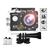 Action Camera WeyTy X6S 4K 30m Underwater Camera 16MP WiFi Sport Camera 170°Wide
