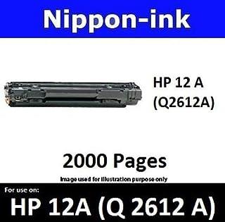 Nippon-ink Q2612A (HP 12 A) Black For Use on HP Laser Black Toner - LaserJet series: 1010, 1012, 1018, 1020, 1020nw, 1022,...
