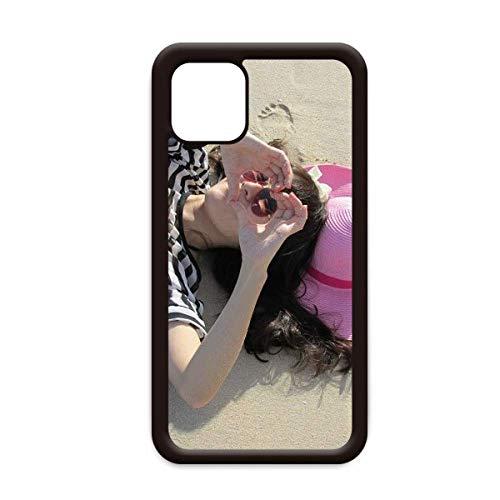 Ellie Yao Beautiflu Meisje Hart Strand Zon Roze Hoed voor Apple iPhone 11 Pro Max Cover Apple Mobiele Telefoonhoesje Shell, for iPhone11 Pro Max
