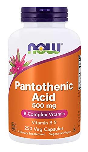 Now Foods, Pantothenic Acid ( Ácido pantoténico ) de vitamina B5, 500 mg, 250 cápsulas vegetarianas