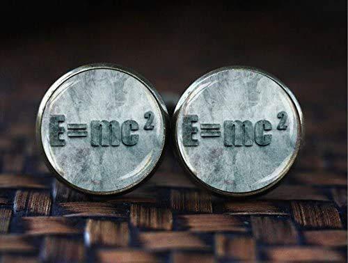 E=mc2 Manschettenknöpfe Quantum Physics Manschettenknöpfe Albert Einstein Manschettenknöpfe Wissenschaft Geek Manschettenknöpfe Physik Mathematik Manschettenknöpfe