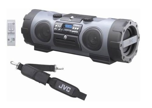 JVC RV-NB 1 CD-Radiorekorder Silber-grau