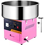 VBENLEM Commercial Cotton Candy Machine Electric Floss Maker 1030W for Family and Various Party, 20.5 Inch, Pink