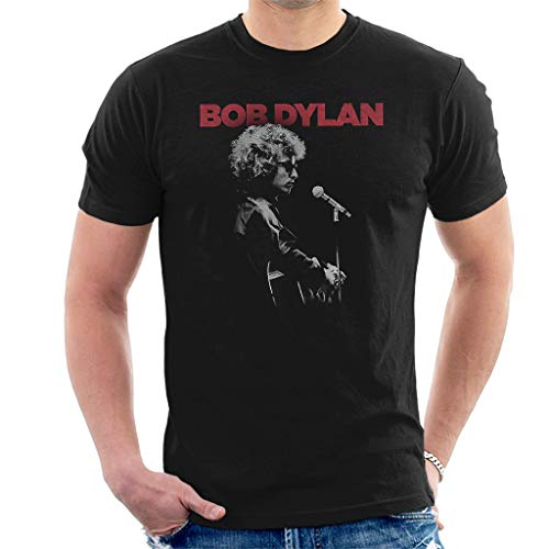 Bob Dylan Sound Check Manga Corta De Los Hombres Camiseta Negro Large