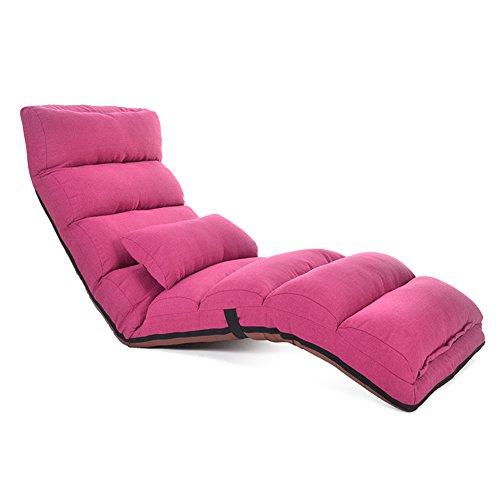 Sol Canapé Paresseux,Individuels Pliant Canapé Pliant,Tatami Tapis Canapé Lits Chaise Longue-Rose 175cm(69inch)