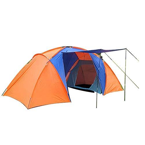 Tienda Camping al Aire Libre 3 ~ 4 Tent persona Túnel, Toldo, impermeable tienda de campaña con bolsa de transporte, Peak Altura de 175 cm, adecuado for al aire libre Backpacking, Senderismo y Trekkin