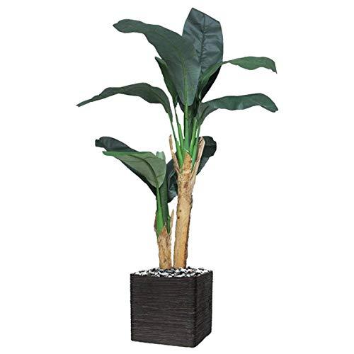 Artificielles.com – Bananero artificial en maceta 2 troncos, altura 120 cm realista