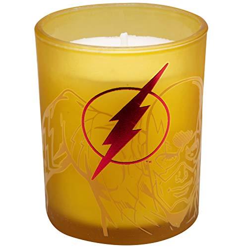Product Image 6: Insight Editions DC Comics Justice League Glass Votive Candles – Set of 4 – Superman, Wonder Woman, Flash, Batman – Unscented – 3 oz Each