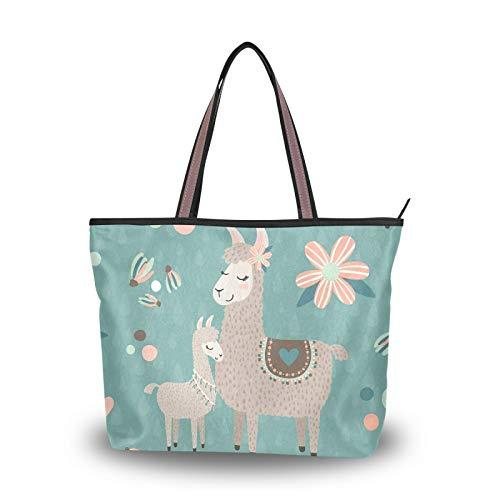 NaiiaN Umhängetaschen Handtaschen Einkaufstasche für Frauen Mädchen Damen Student Leichter Riemen Geldbörse Einkaufen Zwei Alpaka