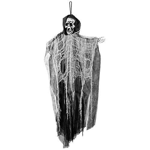 Amakando Decoración horrífica de Halloween Grimm Rea per / 110cm / Decoración Colgante Zombi para jardín / Insuperable para Fiestas de Horror y Fiesta temática
