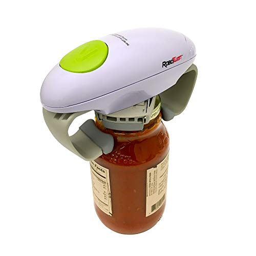 Robo Twist Electric Jar Opener– The Original RoboTwist One Touch Electric Handsfree Easy Jar Opener, Works for Jars of All Sizes - As Seen on TV