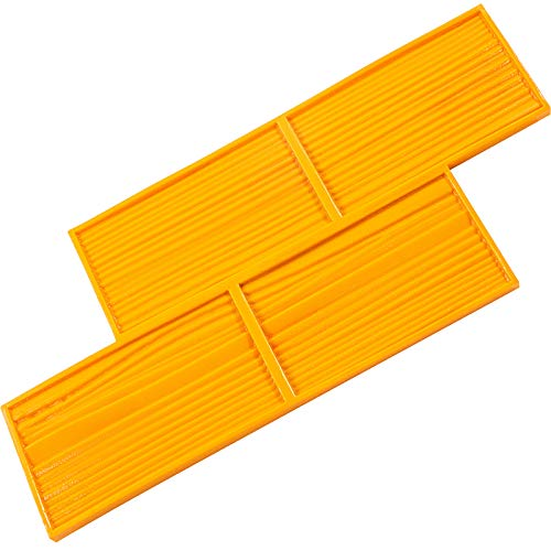 "VEVOR Concrete Texturing Skin, 22""x5.5"" Concrete Stamp Mat, Polyurethane Concrete Stamping Mat, Yellow Slate Concrete Stamp, Concrete Texture Mat w/Handle, Concrete Pattern Stamp for Walls/Floors"