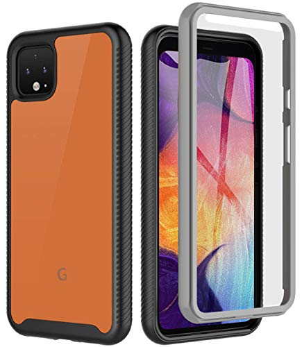 Google Pixel 4 XL Case [New Upgrade], Full Body Rugged Case Heavy Duty Protection with Built in Screen Protector, Shock Drop Proof Slim Fit Cover for Google Pixel 4 XL, 6.3? - Black/Clear, Realproof