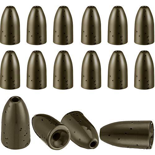 16 Pieces Tungsten Worm Weights Tungsten Flipping Weights Fishing...