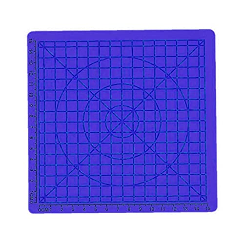 finebrand 3D Pen Mat Printing Silicone Pad Template 3D Pen Accessories Drawing Stencil with Basic Geometric Blue