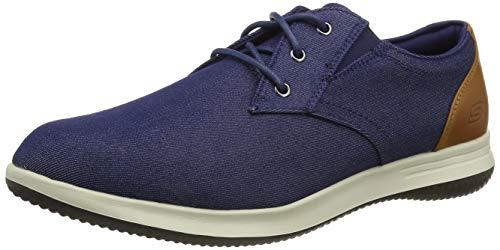 Skechers DARLOW REMEGO, Zapatillas para Hombre, Tela Vaquera Azul, 46 EU