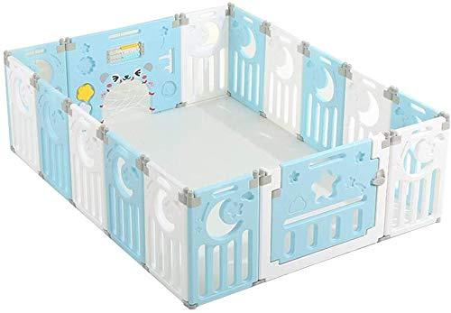 GFF Baby Zaun Geländer für Kleinkind Baby Kind Spielen ParSafety Kunststoff Spielzeug Kinderschutz Kunststoffplatten Angelegenheit (mit Matte)
