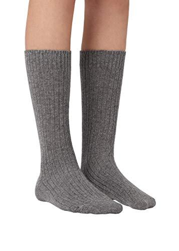 Calzedonia Damen Kurze Socken in Rippe mit Wolle und Kaschmir