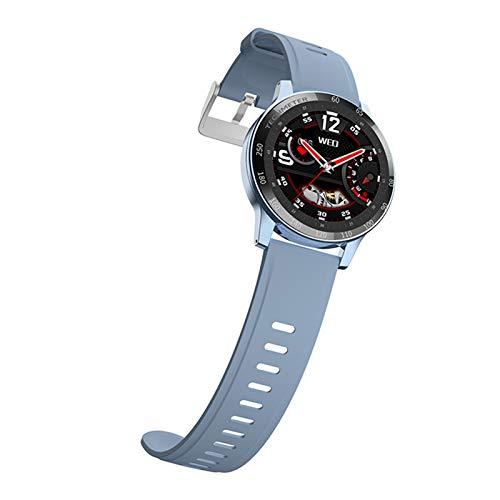 FMSBSC Smartwatch con Pulsómetros Monitor de Sueño Presión Arterial Monitor de Oxigeno / SpO2, Reloj Inteligente Deportivo para iOS y Android,Azul