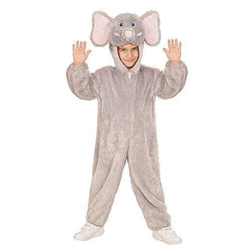 WIDMANN 98104?Disfraz para niños Elefante de Peluche, Mono con Capucha y máscara