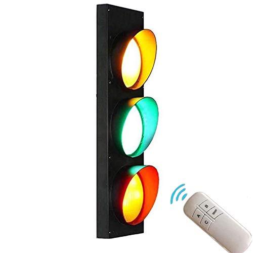 ANKBOY Semáforo Multicolor LED Lámpara de Pared con Interruptor, Apliques de Pared con Control Remoto Luces Ajustables, Habitación Niños Jardín de infantes Juguete Educación Decorativo, 5W*3