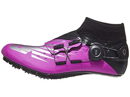 New Balance Women's Short Distance Sigma Aria Spike Running Shoe, Voltage Violet/Black, 10 B US