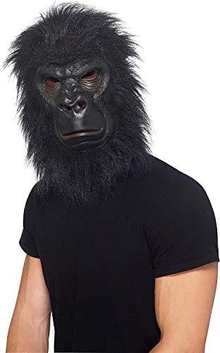 Smiffy'S 24238 Máscara De Gorila Con Pelo, Negro , color/