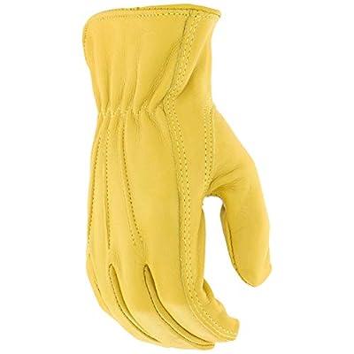 Westchester 84000/XXL Grain Cowhide Leather Driver Palm Patch Gloves, Self Hem, Shirred Elastic Wrist, Gunn Cut, Keystone Thumb, 1-Pair