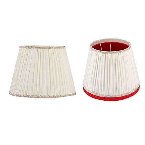 Asixxsix Buena transmisión de luz, Segura y confiable, Pantalla de Tela, cómoda y Ligera, decoración del hogar, Cubierta de lámpara de Mesa, para lámpara de pie, Dormitorio