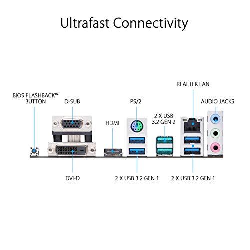 ASUS Prime B450M-A II AMD AM4 (Ryzen 5000, 3rd/2nd/1st Gen Ryzen Micro ATX Motherboard (128GB DDR4, 4400 O.C.), NVMe, HDMI 2.0b/DVI/D-Sub, USB 3.2 Gen 2, BIOS Flashback, and Aura Sync)
