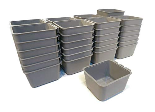 The ROP Shop | (Pack of 50) Gray Cage Cups for Feed & Water for Poultry, Ducks, Birds, Hamsters
