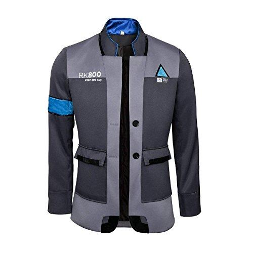 Joyfunny Become Human Cosplay Jacket Kara Connor Marcus Android Uniform Coat Costume L Grey