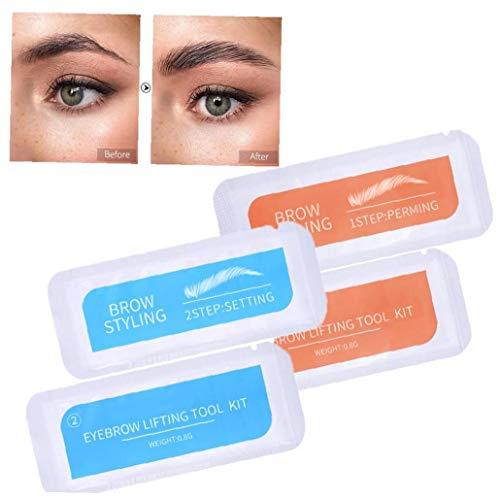 lulongyansf 2 Conjunto de laminación Cejas Cejas Kit Styling Perming configuración configurados portátil de Viaje de una Sola Vez AccessoriseMakeup de la ceja del Maquillaje Styling