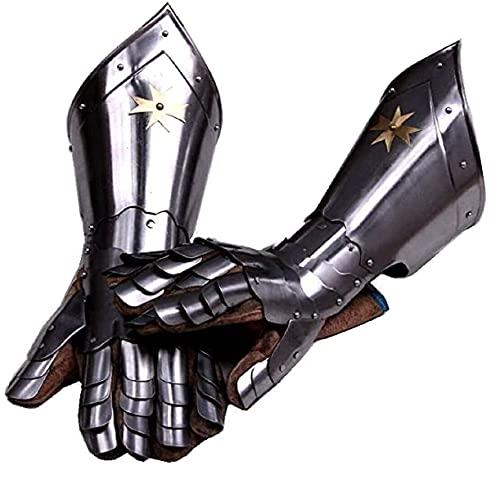 Mittelalterliche Ritterhandschuhe Gothic Paar Handschuhe Rüstung Silber