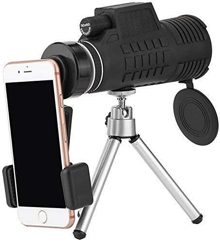 YIQIFEI Telescopio monocular Estelar 50 * 60 telescopio monocular óptico Resistente al Agua Zoom automático Lente de cámara de teléfono día y (monocular)