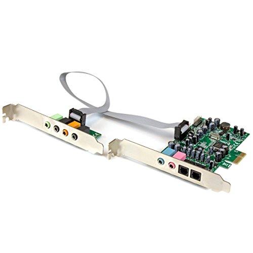 STARTECH.COM Scheda Audio Interna PCI Express Surround 7.1 Canali, PCI Surround Sound Card a 24-Bit, 192 Khz