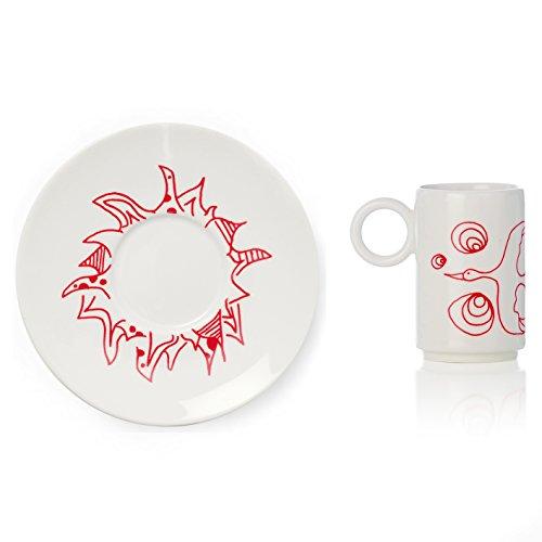 L'Abitare Galapagos Tazza caffè Phoenix, Porcellana, Bianco